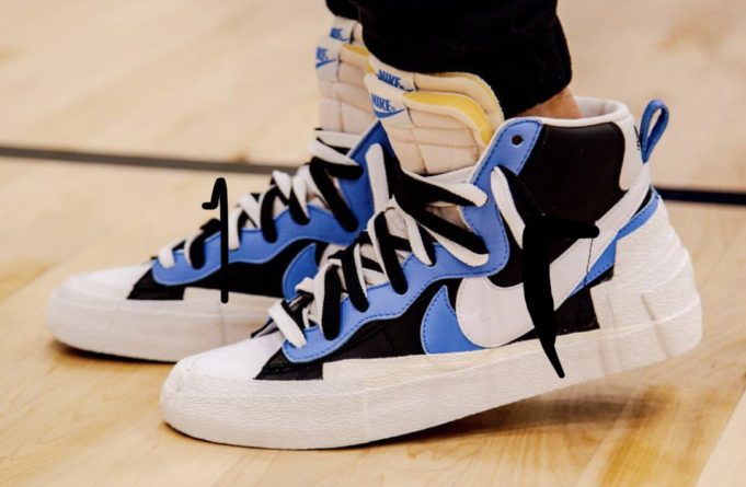 competitive price 27e6a 84e0f The sacai x Nike Blazer Mid Black University Blue is a new hybrid style  coming from the Japanese label s collaboration ...