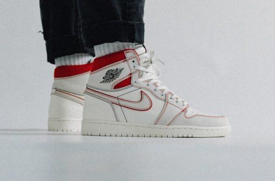 9865dd66f38 Air Jordan 1 Retro High OG Sail University Red • KicksOnFire.com