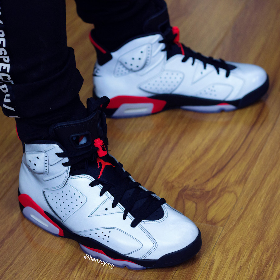 Here Is An On Feet Look At The Air Jordan 6 3M Reflective