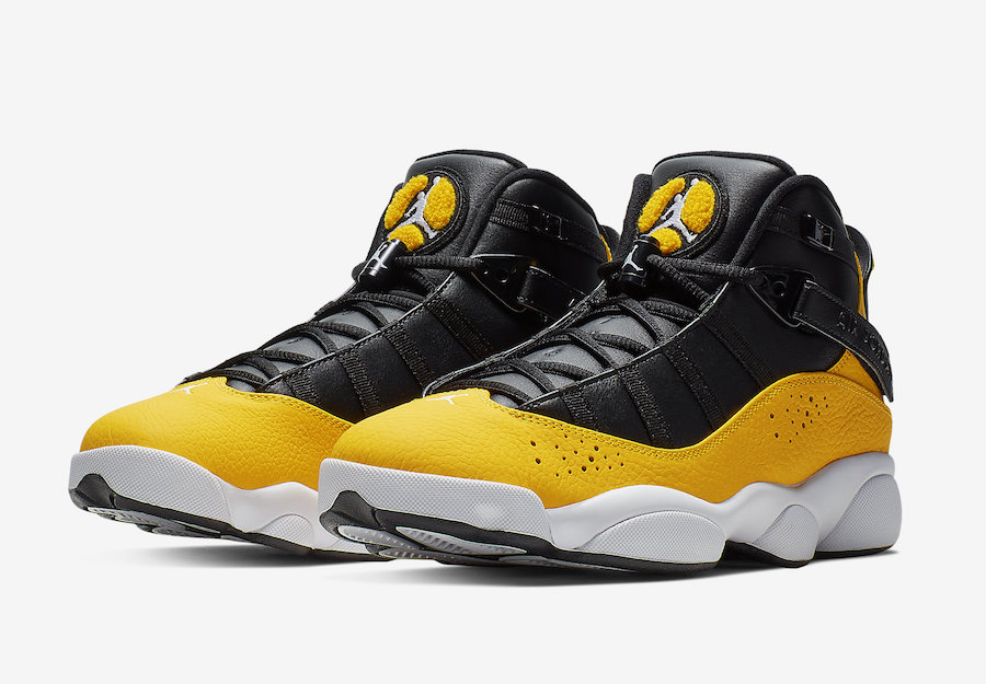 new style 49011 2ca89 Black And Yellow Provide A Pop On This Jordan 6 Rings ...