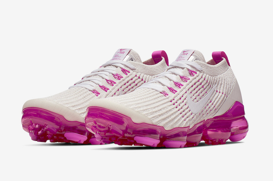 vapormax white and pink