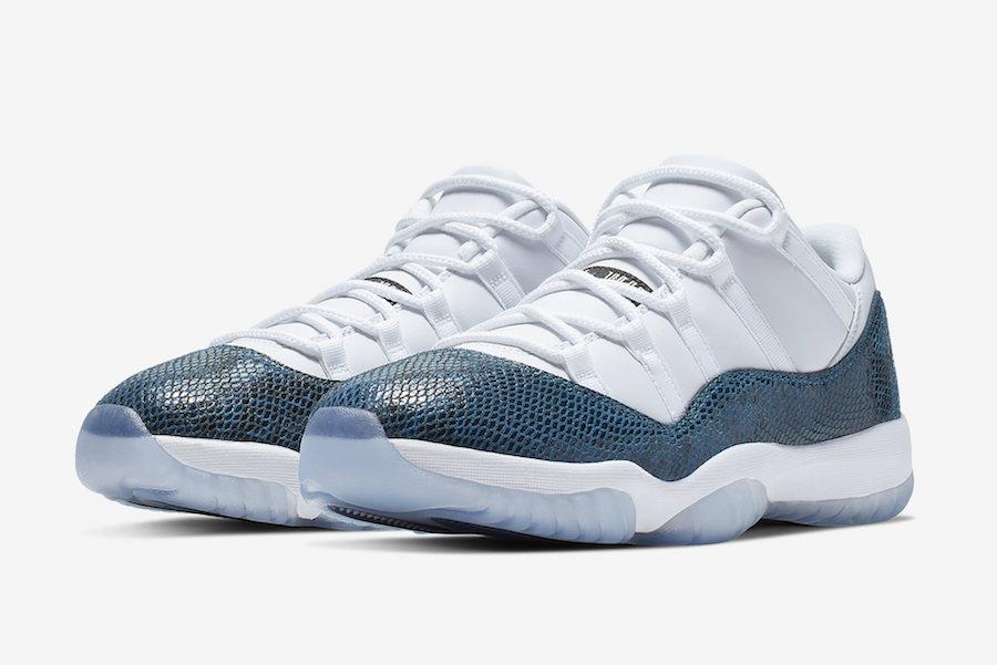Air Jordan 11 Low Blue Snakeskin 2019