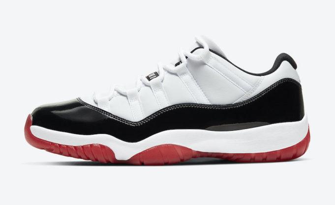 black white red 11s