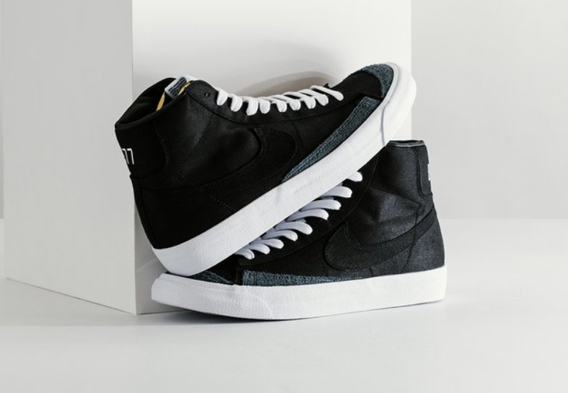 Get The Nike Blazer Mid 77 Vintage Black Canvas Now • KicksOnFire.com
