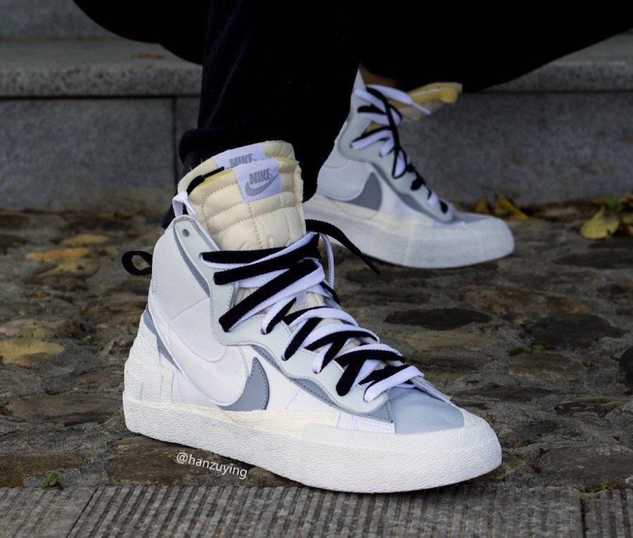 sacai x Nike Blazer Mid White Wolf Grey Coming Soon