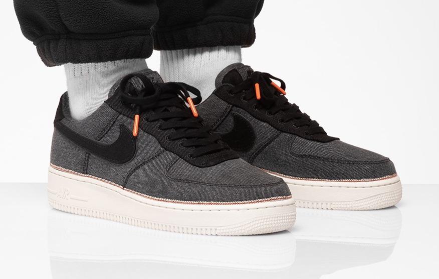 premium selection 20d61 2ad47 Black Denim Covers This 3×1 x Nike Air Force 1 Low