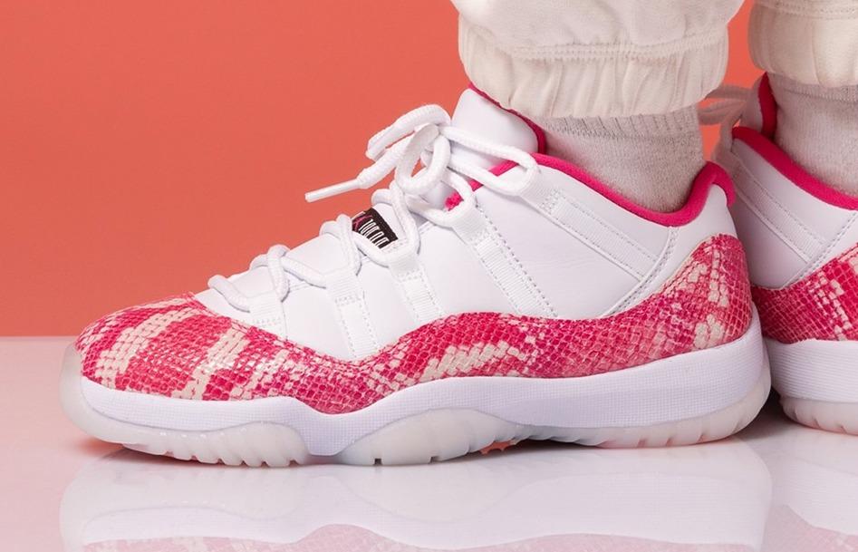 Air Jordan 11 Low WMNS Pink Snakeskin