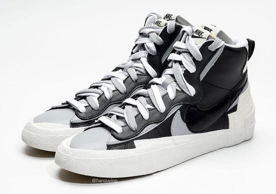 sacai x Nike Blazer Mid Black Grey