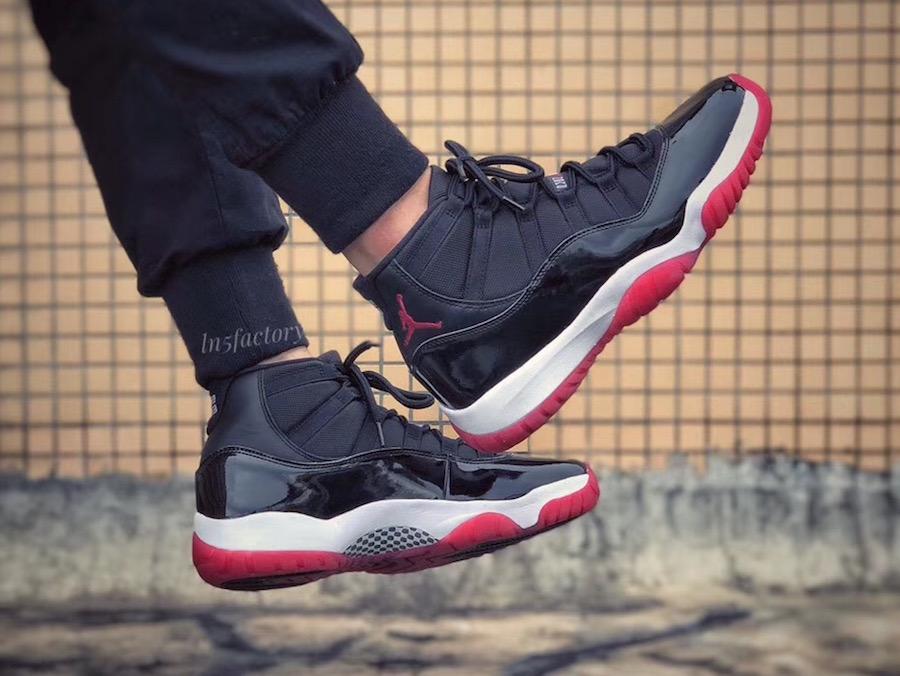 buy popular 0ffc5 bea32 On-Feet Look At The Air Jordan 11 Bred 2019 • KicksOnFire.com