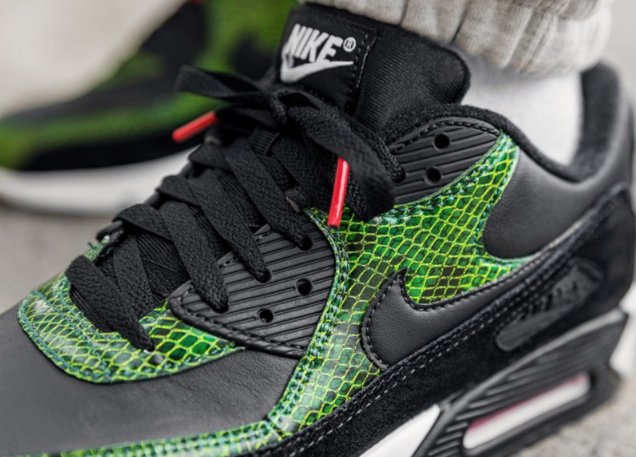 brand new 28387 20225 Buy The Nike Air Max 90 Green Python Early Here. Jun 12, 2019. Buy Now From   130