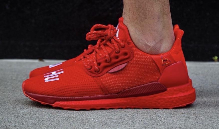 Pharrell Williams x adidas Solar Hu Glide Red Coming Soon • KicksOnFire.com