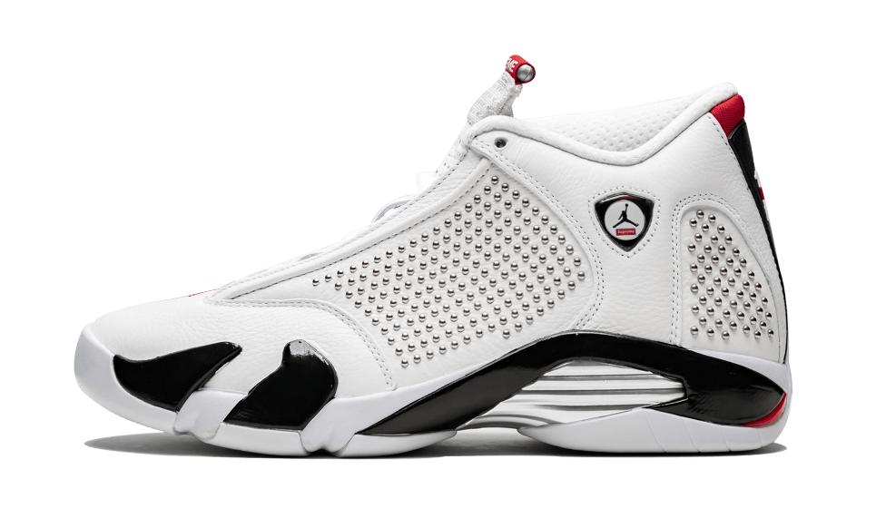 06846c85658 Where To Buy The Supreme x Air Jordan 14 White University Red •  KicksOnFire.com