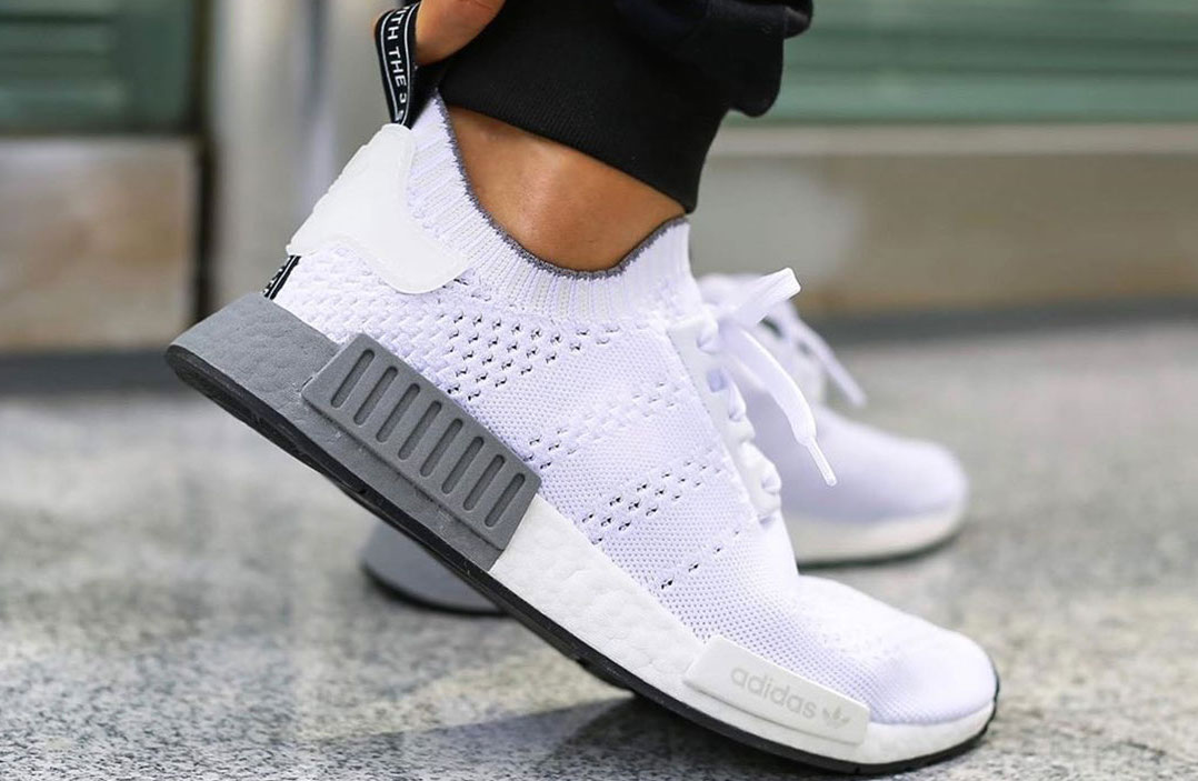 Colorblock Boost Appears On This adidas NMD R1 Primeknit White • KicksOnFire.com