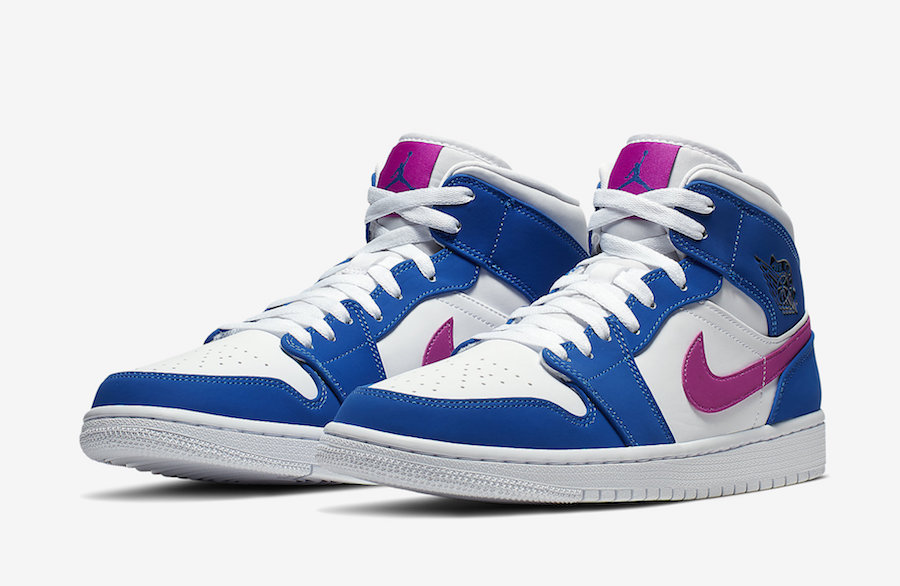 Blue And Violet Combine On The Air Jordan 1 Mid • KicksOnFire.com