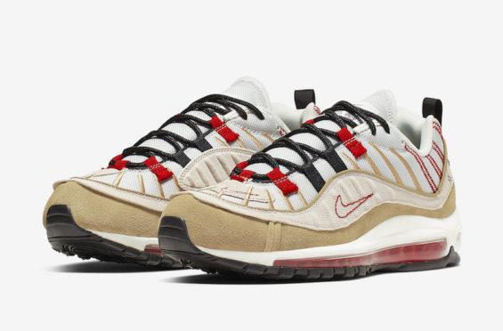 Nike Air Max 98 Triple White on feet via asphaltgold