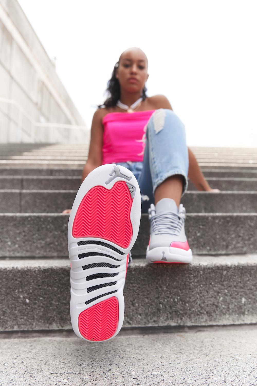 Jordan 12 GS Grey Pink (Racer Pink) • KicksOnFire.com
