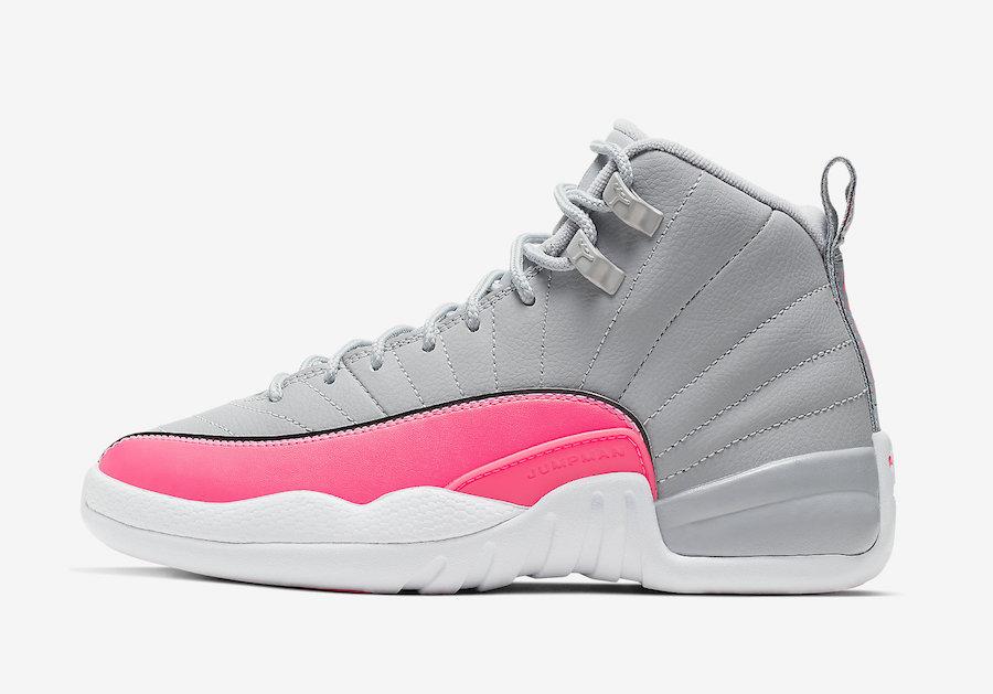 online retailer e9ae5 e4d0c Jordan 12 GS Grey Pink (Racer Pink) • KicksOnFire.com