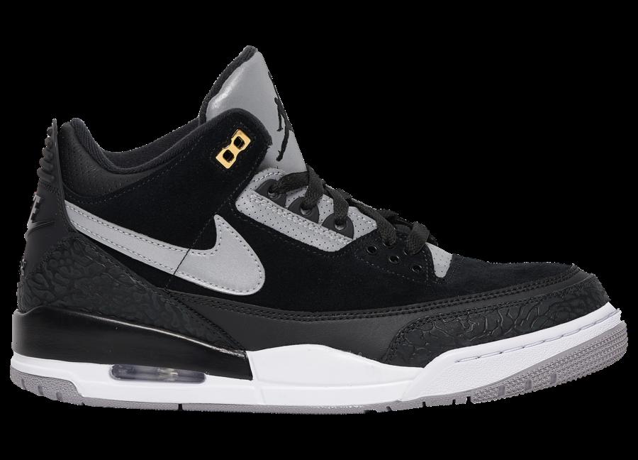 buy online d958b ae62f Air Jordan 3 Tinker Black Cement • KicksOnFire.com
