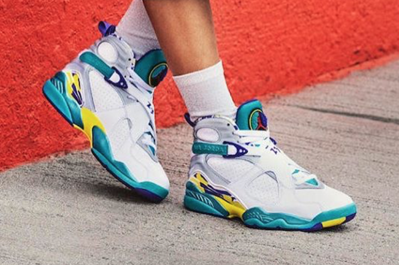 The Air Jordan 8 WMNS White Aqua 2019 Is Back After 12 Years ...