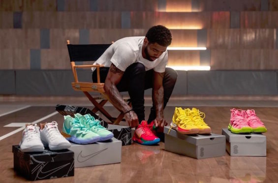 Kyrie Irving Gives Us A Full Look At The Spongebob x Nike Kyrie Collection
