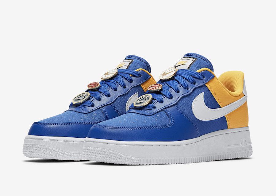 bas prix 0f472 0e672 Nike Basketball Lace Locks Land On This Blue And Yellow Nike ...