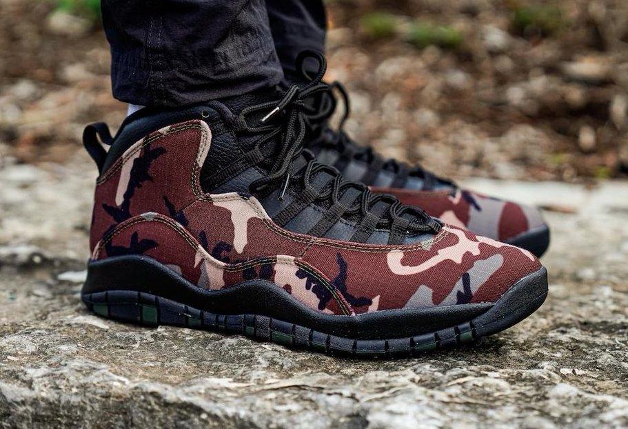 huge discount 27965 67bcd Air Jordan 10 Woodland Camo • KicksOnFire.com