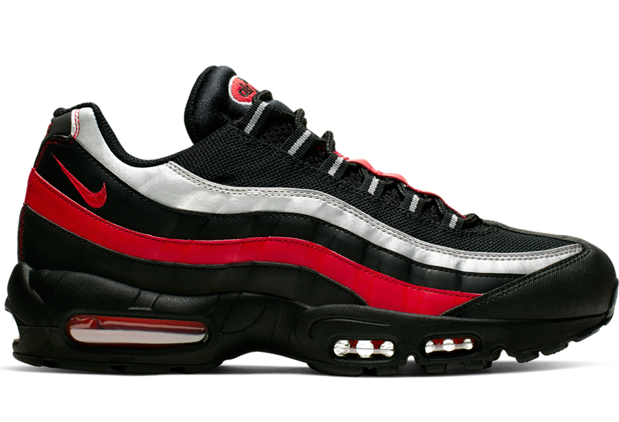buy popular d15c5 7de42 This Nike Air Max 95 Features Black, Red, And Silver ...