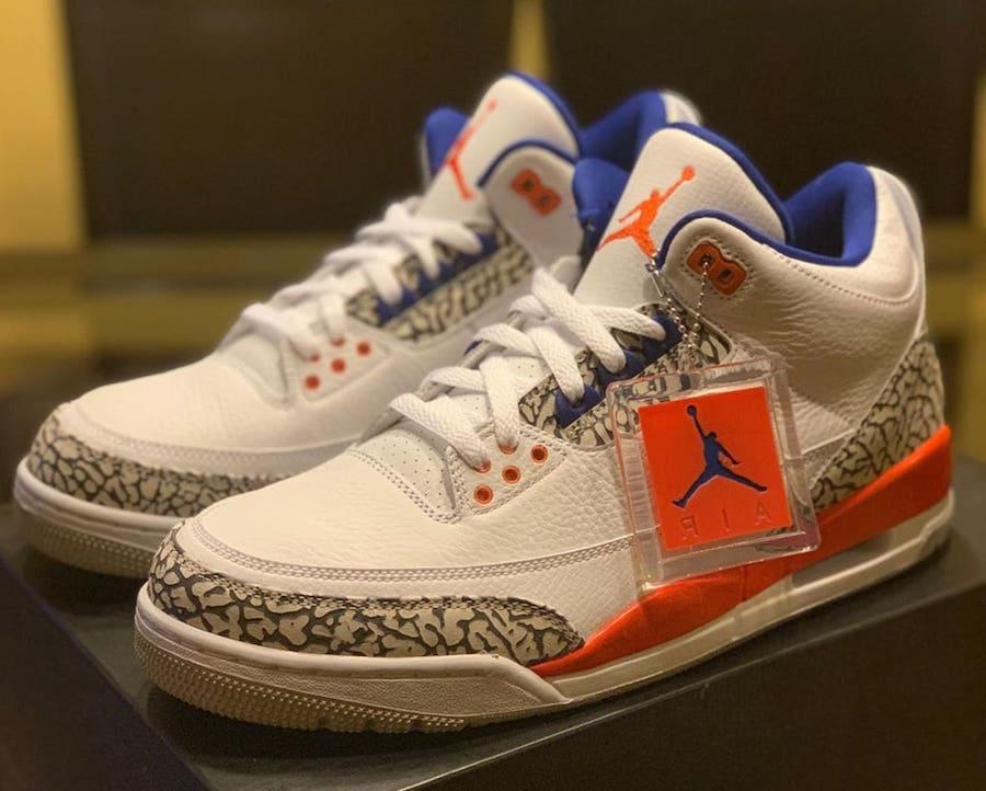 quality design 289b2 fa1c6 Air Jordan 3 Knicks Rivals • KicksOnFire.com