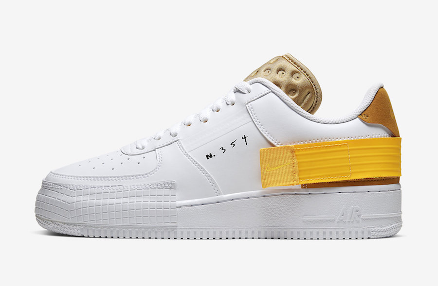 Official Images: Nike Air Force 1 Low Type White Gold Yellow