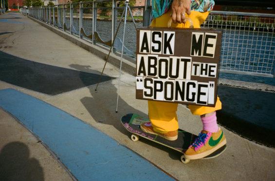 The CPFM x Nike Blazer Mid Sponge By