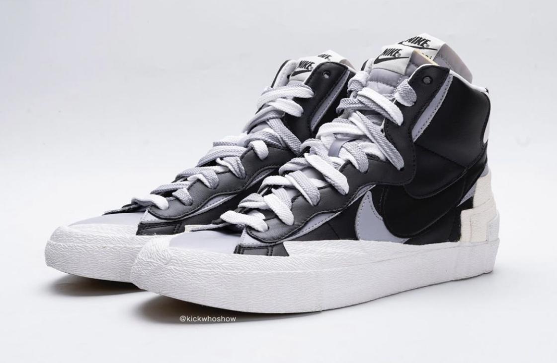 sacai blazer black and white