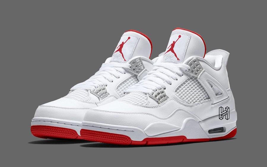Air Jordan 4 White University Red To Debut Next Year • KicksOnFire.com