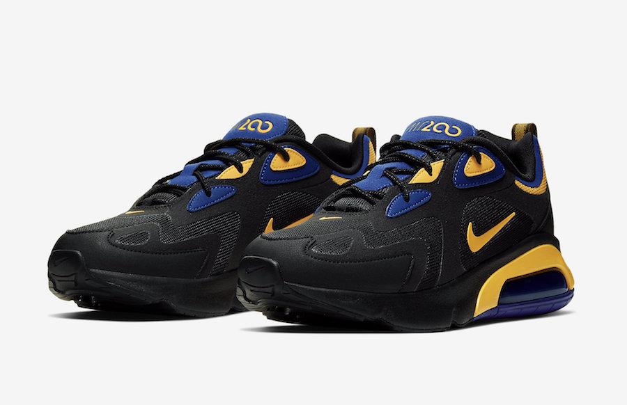 Nike Air Max 200 Black Yellow Blue