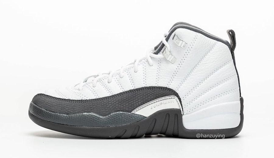 Air Jordan 12 White Dark Grey