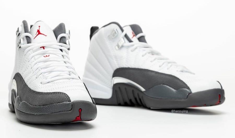 grey and white retro jordans