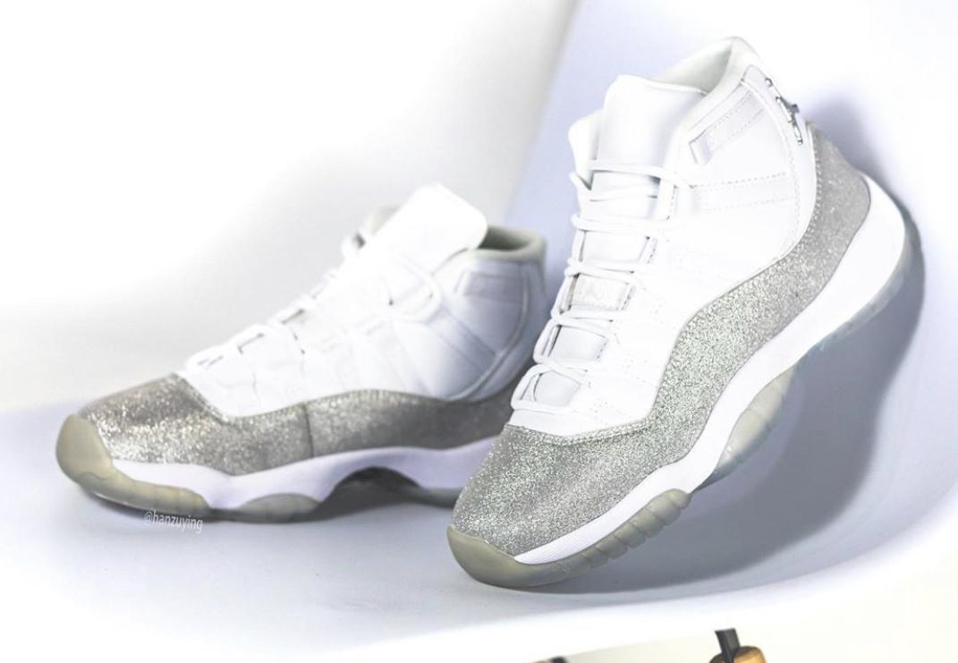 air jordan 11 retro metallic silver glitter
