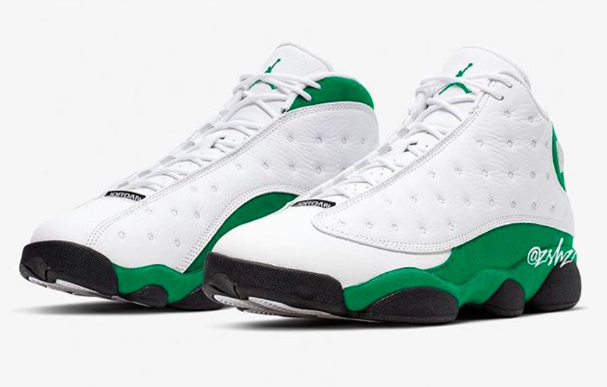 Air Jordan 13 Lucky Green Dropping In