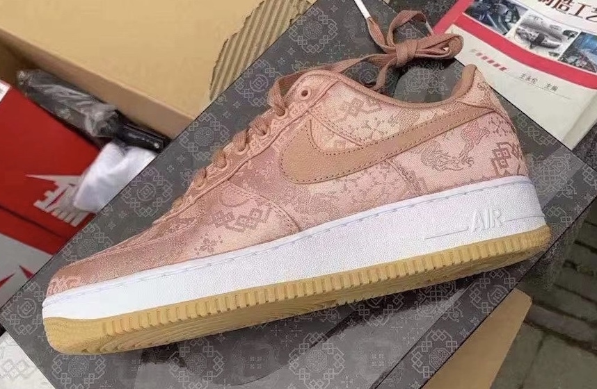 First Look At The CLOT x Nike Air Force 1 Low Rose Gold ...