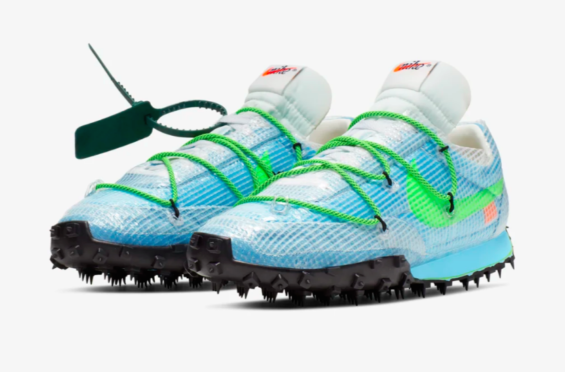 Official Images: Off-White™ x Nike WMNS Waffle Racer Vivid Sky