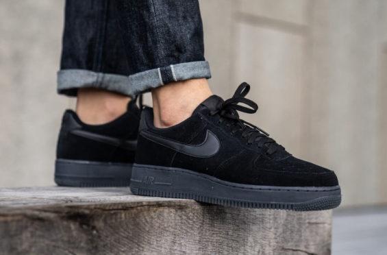 Nike Air Force 1 Low Black Blue Fury Cool Grey