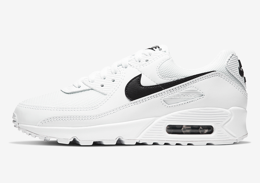 An All-White Nike Air Max 90 With Pops