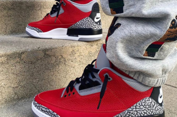 Air Jordan 3 SE Red Cement / NIKE CHI • KicksOnFire.com