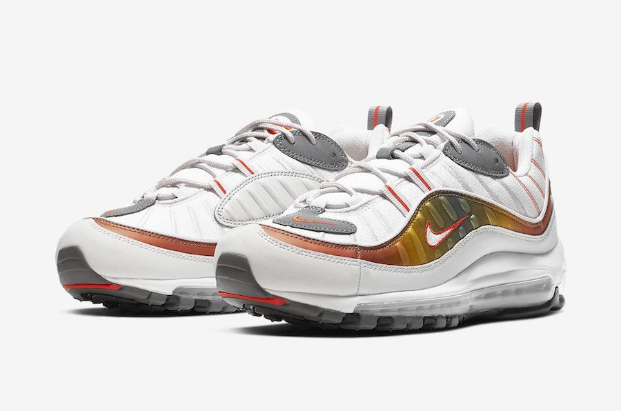 An Orange Gradient Appears On This Nike Air Max 98 Kicksonfire Com