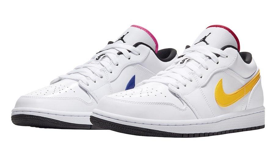 Multi Color Swooshes On This Air Jordan 1 Low Kicksonfire Com