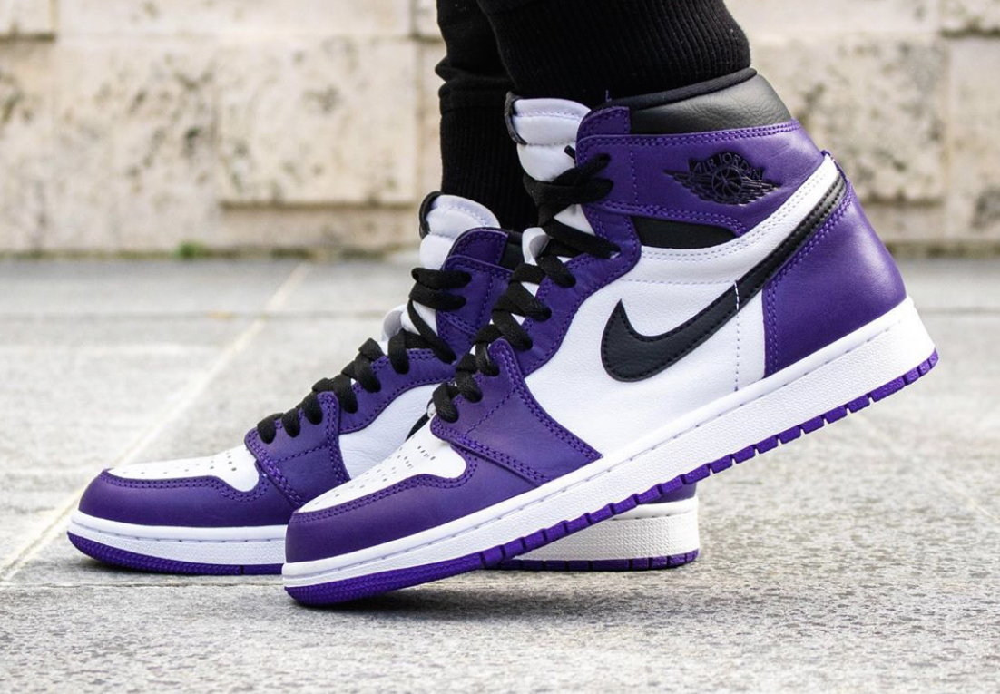 air jordan 1 court purple white