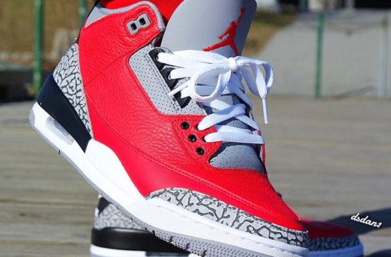 Air Jordan 3 SE红色水泥/ NIKE CHI AJ乔丹 第4张
