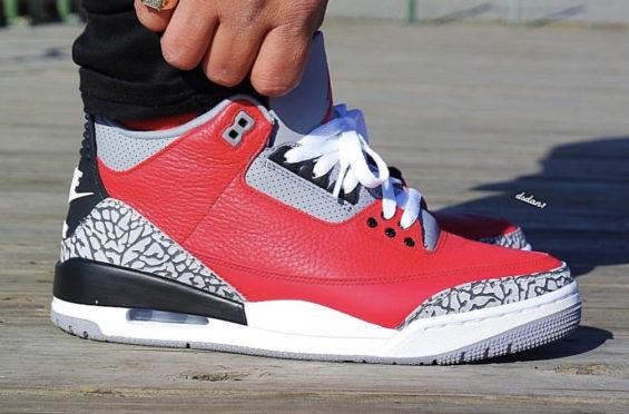 Air Jordan 3 SE Red Cement / NIKE CHI