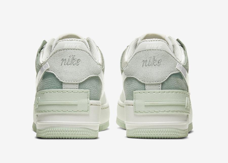 Pastel Greens Cover The Nike WMNS Air Force 1 Shadow • KicksOnFire.com