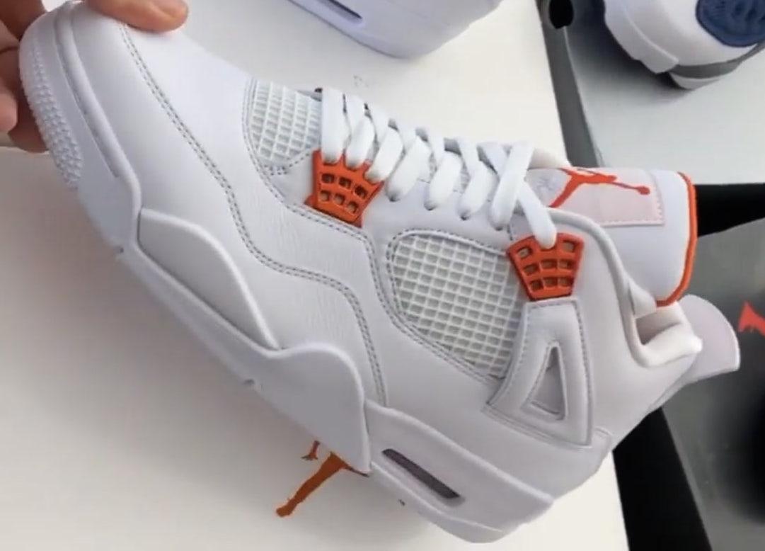 air jordan 4 retro orange metallic