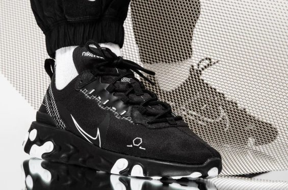 Look For The Nike React Element 55 Schematic Black Now | Sneakers ...